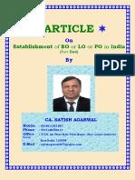 Establishment of BO or LO or PO in India