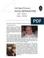 Provincial Newsletter - Ed 039 - 22 08 13