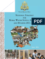 National Strategy for Rural Water Supply 2011-2025