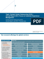 Contact Center Outsourcing (CCO) - Annual Report 2013