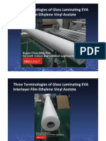 Three Terminologies of Glass Laminating EVA Interlayer Film Ethylene Vinyl Acetate