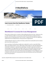 Lean Lessons From the Hawthorne Studies - Management Meditations