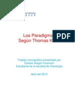 Monografia Los Paradigmas Segun Thomas Kuhn