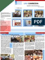 UN Volunteers in Cambodia Newsletter, August 2013