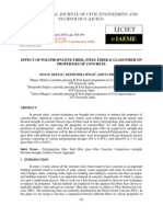 Effect of Polypropylene Fiber, Steel Fiber & Glass Fiber on Properties of Concre
