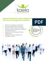 2013 Kaelo Brochure