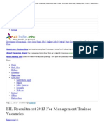 EIL Recruitment 2013 for Management Trainee Vacancies _ Government Jobs in India - Govt Jobs _ Bank Jobs _ Railway Jobs _ Central _ State Government Jobs _ Employment News