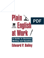 Bailey E.P. - Plain English at Work. a Guide to Business Writing and Speaking - 1996