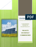 Staten Solar Experience - Completed & Current Projects