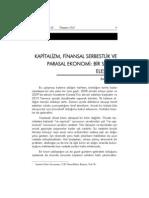 MFY-88 Emre Alkin Kapitalizm Finansal Serbestlik Parasal Ekonomi