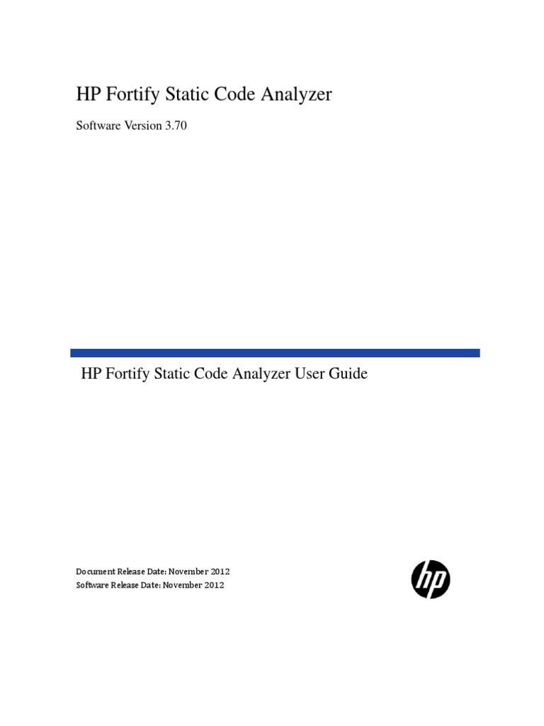 Elegant HP Fortify SCA User Guide 3.70 | Java Server Pages | Java (Programming  Language)