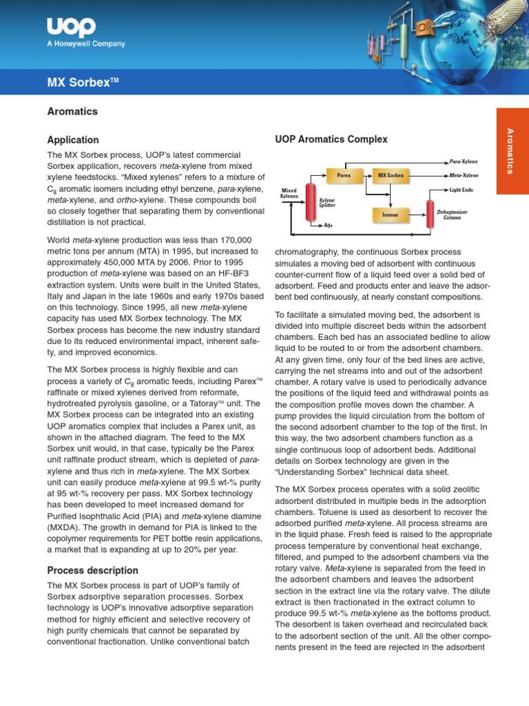 Mx Sorbex Adsorption Chemical Process Engineering Flow Diagram Of Xylene