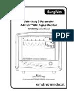Veterinary 3 Parameter Advisor Vital Signs Monito