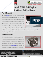Ford Transit 2.4 Tdci Engine Specifications & Problems