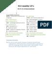 ELS IELTS (Intermediate) syllabus