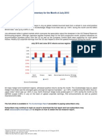 Eurekahedge August 2013 - Hedge Fund Performance Commentary for the Month of July 2013