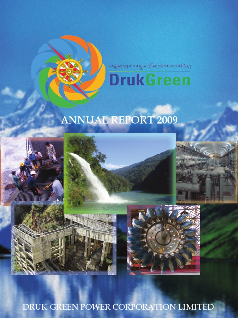 Dgpc Annual Report2009 Hydroelectricity Bhutan
