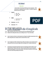 33811897 M S Word Question Paper