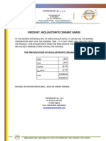 Wollastonite Ceramic Grade -Chemical Products Specification Sheet - Chemiglob.com -  Karta Techniczna