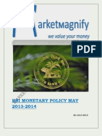 Rbi Monetary Policy May 2013-2014
