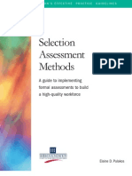 Selection Assessment Methods