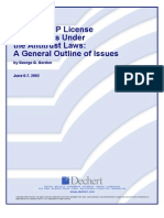 Analyzing IP License Restrictions Under the Antitrust Laws - A General Outline of Issues