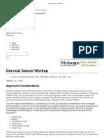 Cervical Cancer Workup