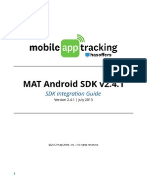 MobileAppTracking Android SDK | Software Development Kit