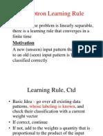 Perceptron Learning Rule