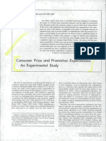 Consumer Price and Promotion Expectations
