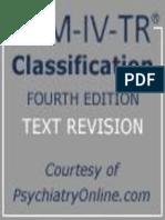 DSM IV TR Classification