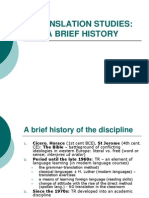 History of Translational Studies