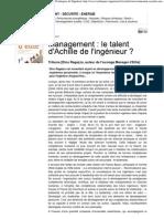 Management Le Talent d'Achille de l'Ingenieur