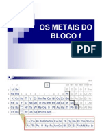 Os Metais Do Bloco f