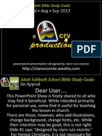 3rd Quarter 2013 Lesson 8 Discernment the Safeguard of Revival