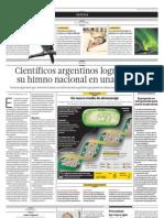 Científicos argentinos logran poner su himno nacional en una bacteria