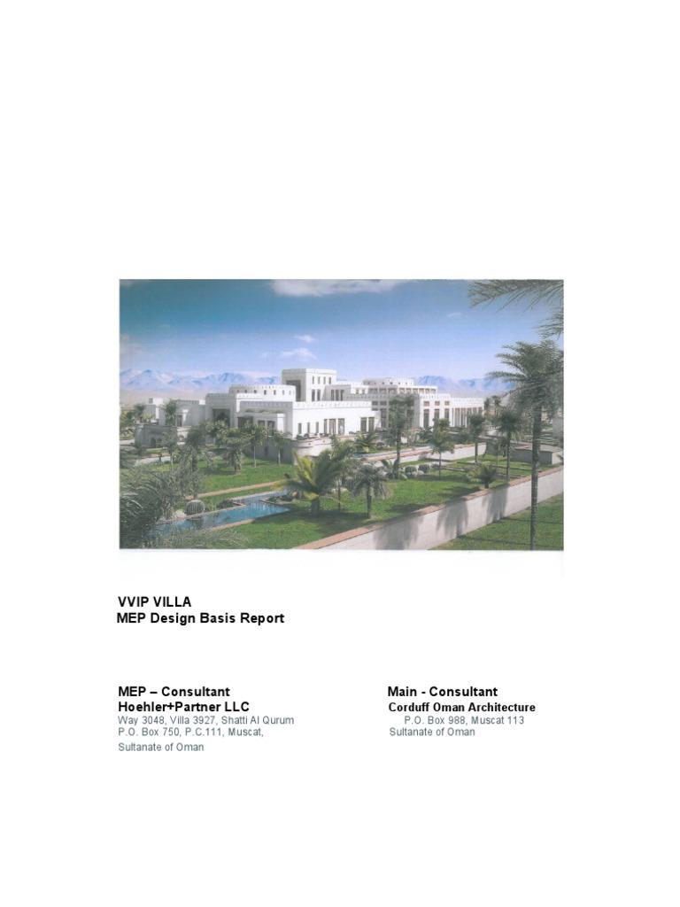 MEP Design Report_Rev-1 -30thJune doc | Hvac | Water Heating