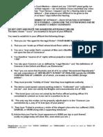 Affidavit - How to Respond