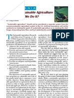 2005. What is Sustainable Agriculture and How Do We Do It