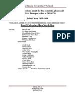 bus schedule for newbrook elementary