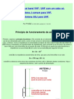 Antena OSJ para VHF e UHF com um cabo só