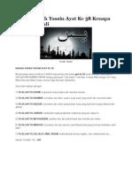 Rahsia Surah Yassin Ayat Ke 58 Kenapa Diulang 7 Kali