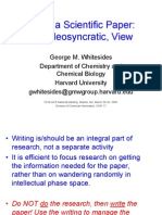 Whitesides ACS Writing a Scientific Paper Apresentacao