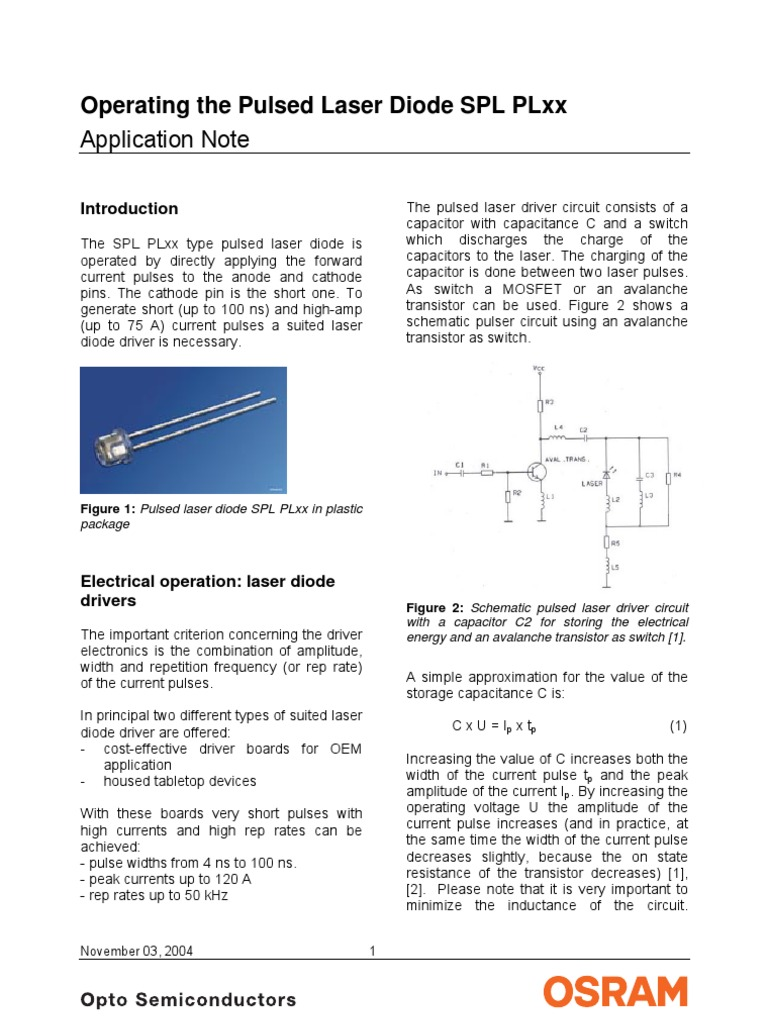 Appnote Operating Spl Plxx 03112004 Capacitor Diode Laser Driver Circuit 1