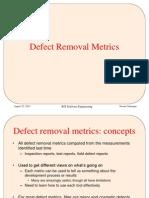 Defect Removal Metrics