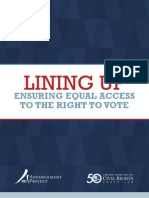Lining Up - Ensuring Equal Access to the Right to Vote