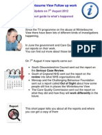 In Short Briefing on Winterbourne Reports 7.8.12