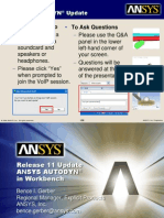 ANSYS AUTODYN in Workbench Introduction