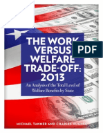 The Work versus Welfare Trade-Off