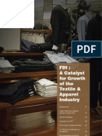 FDI a Catalyst for Growth of the Textile & Apparel Industry